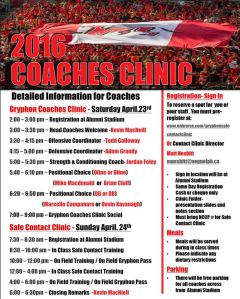 GF Coaches clinic