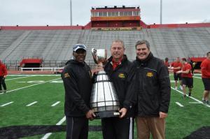 Eskimo teammates, multi-time Grey Cup winners & Guelph Coaches Gregg Butler, Neil Lumsden & Stuart Lang