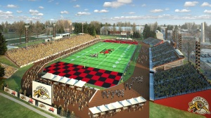 Artist's rendering of Alumni Stadium for 2013