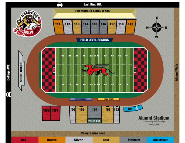 Alumni Stadium seating chart