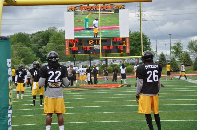 Ticats practice at Alumni Stadium