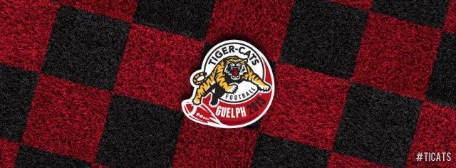 Ticats 2103 logo on Guelph checkerboard