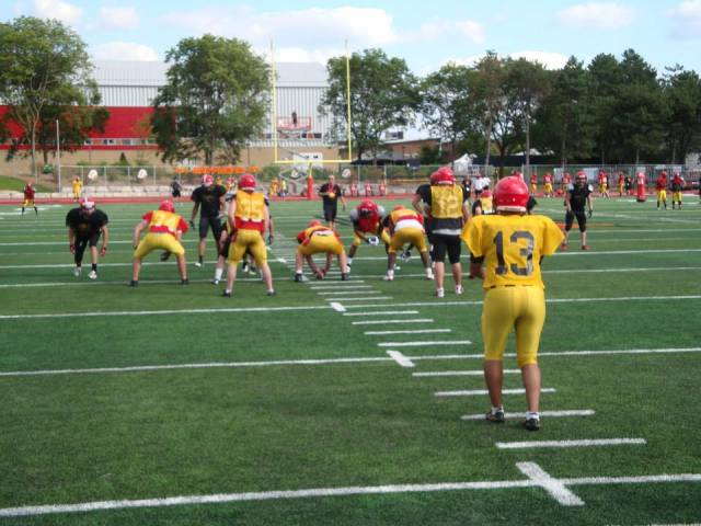 Punt formation with Daniel Ferraro