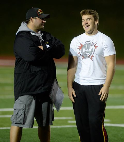 DC MacNeill and John Rush chatting at recent practice Photo: Rob Massey/Guelph Mercury