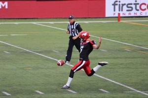 Stamps punter Rob Maver