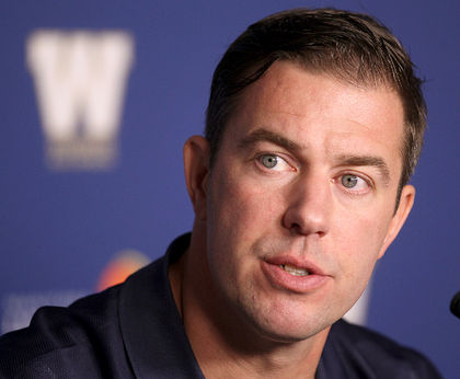Bombers acting GM Kyle Walters [UofG '96] Photo: Winnipeg Sun