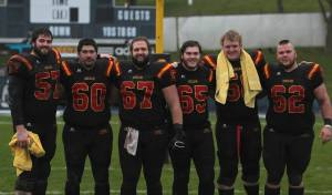 Gryphon O-Linemen Photo: Lou Toppan