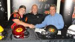 OL recruit Nick Thun with his father and Coach Lang
