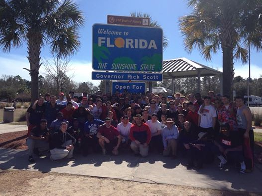 Gryphon Football arrives in Florida - Feb 14/14