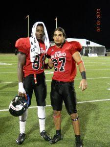 WR recruit Malik Richards (left) with Jadon Johnson in Texas 2013