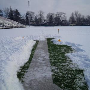 "WLU""s University Stadium - March 5 Photo: @MichaelFaulds"