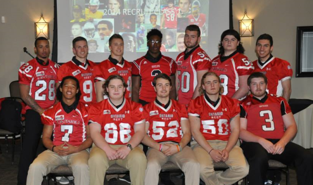 Team Ontario alumni in the 2014 Gryphon recruiting class