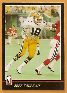 Jeff Volpe, 1986 CFL playing card