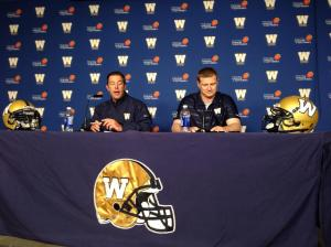 Bombers GM Walter and HC O'Shea address media after the CF Draft
