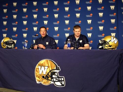 Bombers GM Walter and HC O'Shea address media after the 2014 CFL Draft