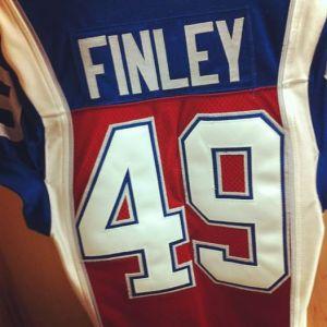 Jeff Finley's Alouette jersey