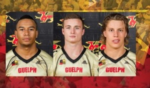 Players of the Week - Jazz Lindsey, Ryan Nieuwesteeg & Cam Walker Photo: gryphons.ca