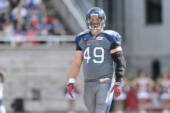 Former Gryphon Jeff Finley in Montreal Alouettes uniform
