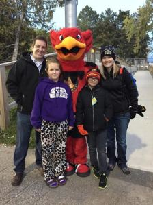 The Guthrie family with Gryph prior to Friday night game
