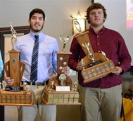 Noel Amaya  Spencer Swann with their D10 trophies Photo: Rob Massey/Mercury