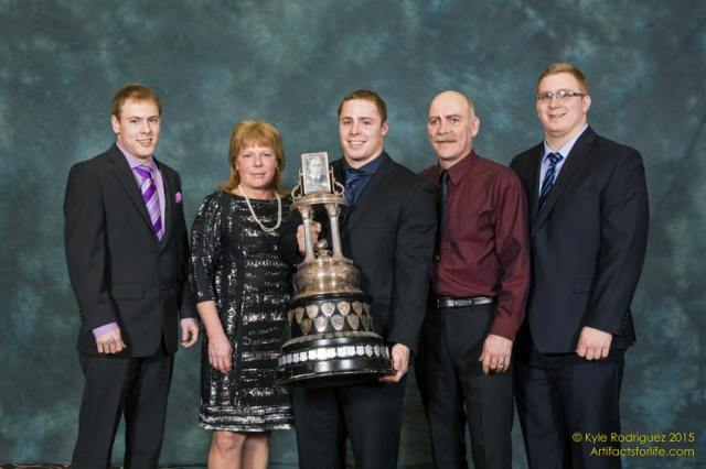 Wildman Trophy winner Rob Farquharson with his parents and brothers Photo: Kyle Rodriguez