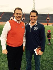 Auburn HC Gus Malzahn with Curtis Rukavina
