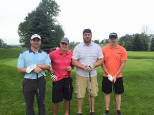 Nick FitzGibbon, Matt Rossetti, Grant MacDonald and Justin Dunk at FoGF 2015 Golf Tournament