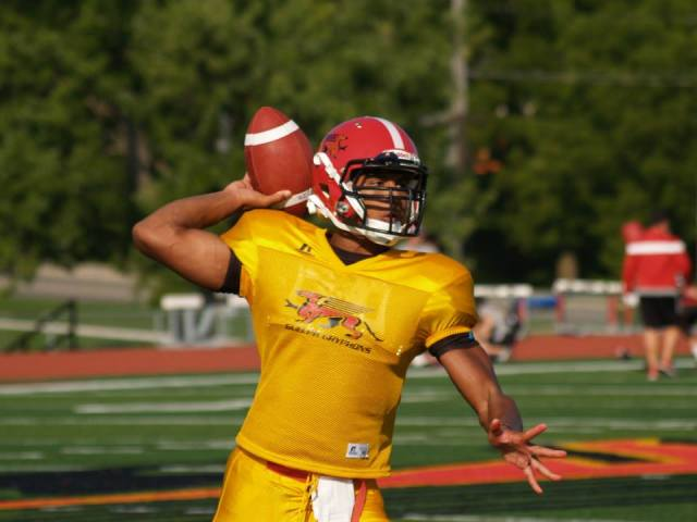 QB recruit Theo Landers on the first day of #GryphonCamp15