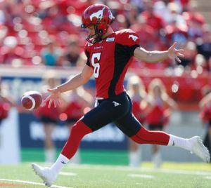 Stamps punter Rob Maver Photo: Al Charest/Calgary Sun