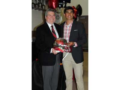 QB Zach Buchan with Stu Lang at Georgia signing ceremony Photo: DawsonNews.com
