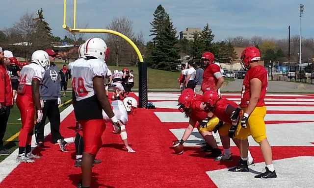 One-on-ones - York D-Line vs Guelph O-Line
