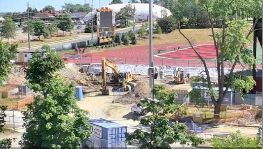 Pavilion contruction site